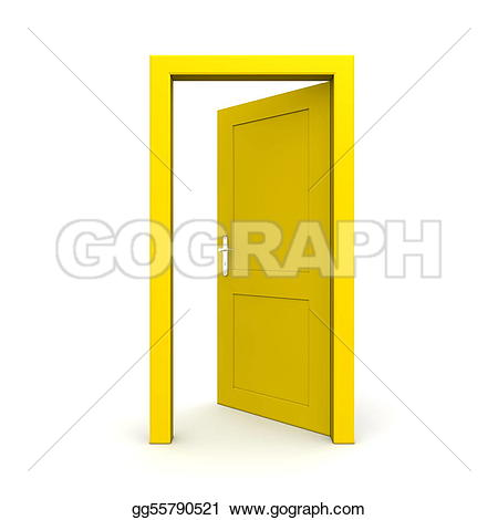Open Door Stock Illustrations.