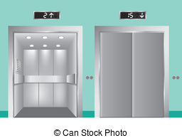 Open Elevator Clipart.