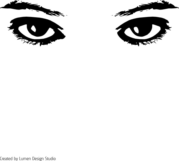 Eyes clip art Free vector in Open office drawing svg ( .svg.