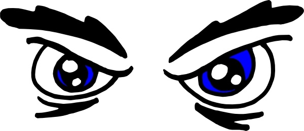 Angry Eyes clip art Free vector in Open office drawing svg ( .svg.