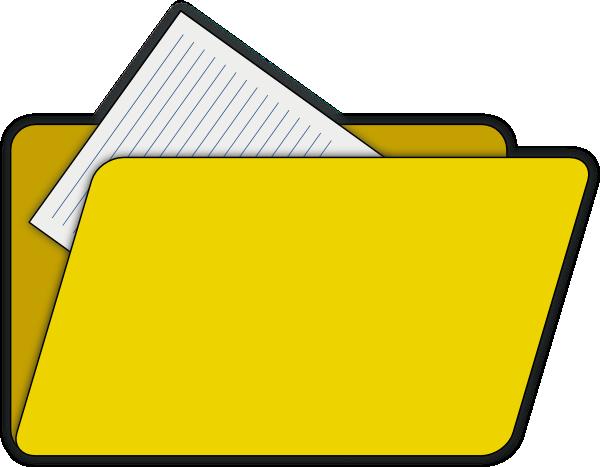 Open File Folder Clipart.