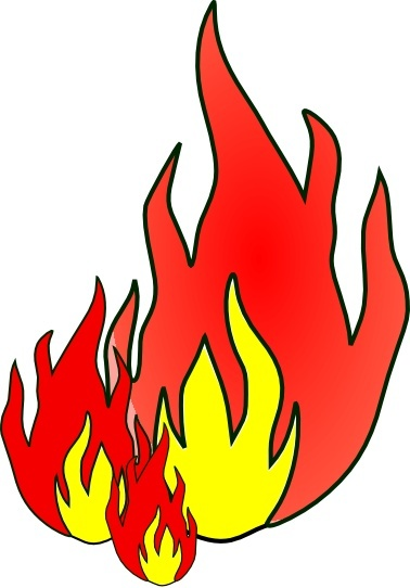 Fire clip art Free vector in Open office drawing svg ( .svg.