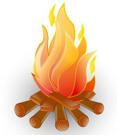 Open Fire Clipart.