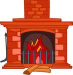 Clip Art Fireplace.