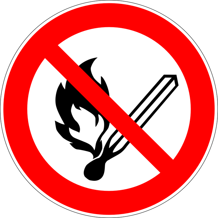 Free vector graphic: Fire, Open Flames, Prohibited.