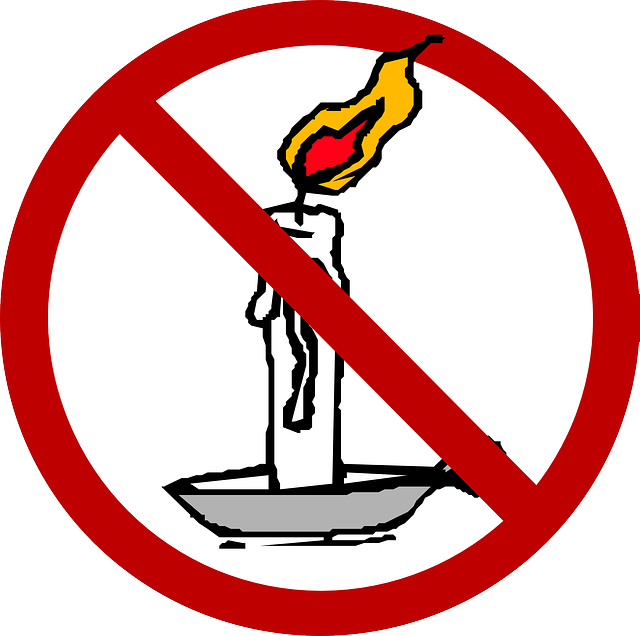 Free vector graphic: Candle, Prohibited, Open Flames.