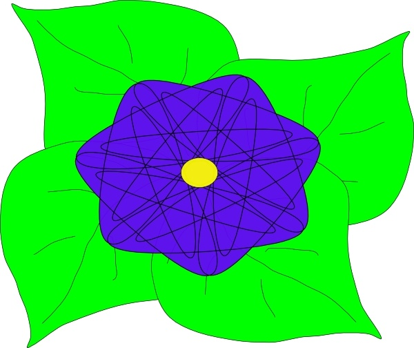 Flower clip art Free vector in Open office drawing svg ( .svg.