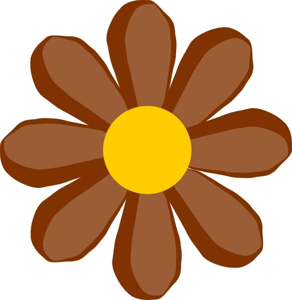 Brown Flower clip art Free vector in Open office drawing svg.