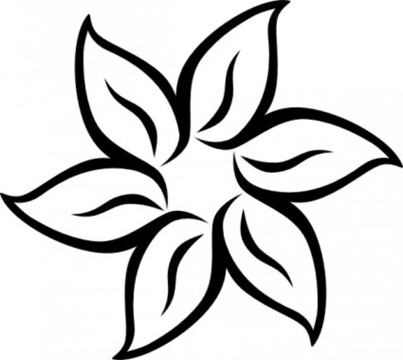 Open Lotus Flower Clipart.