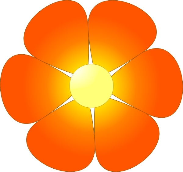 Red Flower clip art Free vector in Open office drawing svg ( .svg.