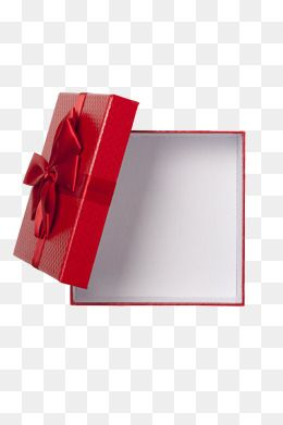 Red Texture Gift Box, Gift Clipart, Open, Empty PNG.