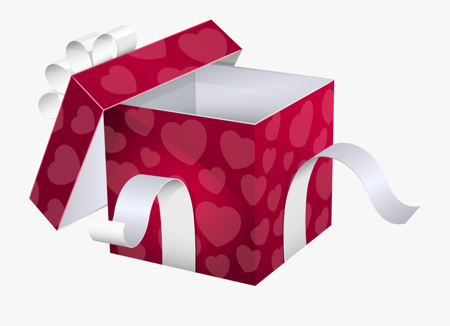 Open Pink Gift Box Png Clipart Image.