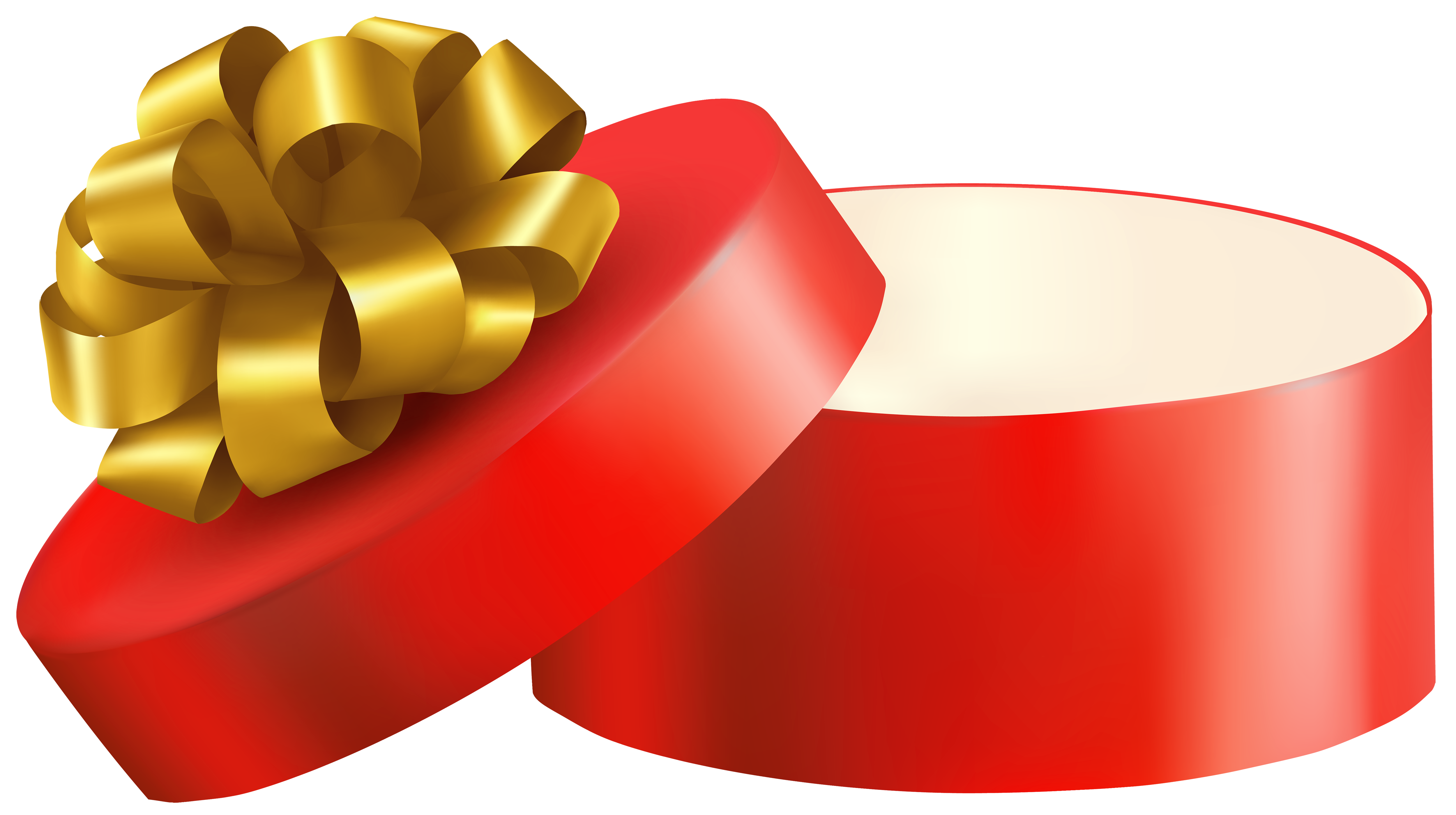Red Open Gift PNG Clipart.