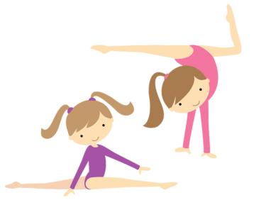 Gymnastics open gym clipart.