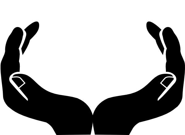 Open Praying Hands Clipart.