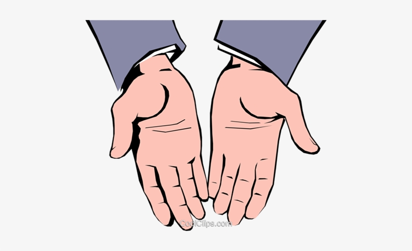 Open Hands Royalty Free Vector Clip Art Illustration.