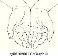 Open Hands Clip Art.