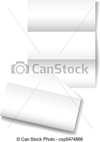 Clip Art Vector of Open letter envelope stationery paper.