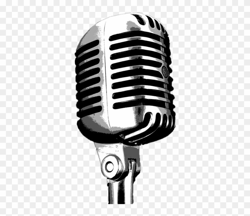 Mic Drawing Radio Microphone.