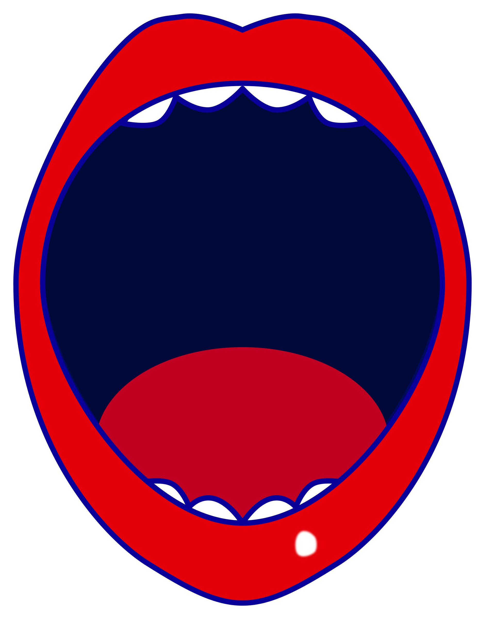 Clipart red open mouth.