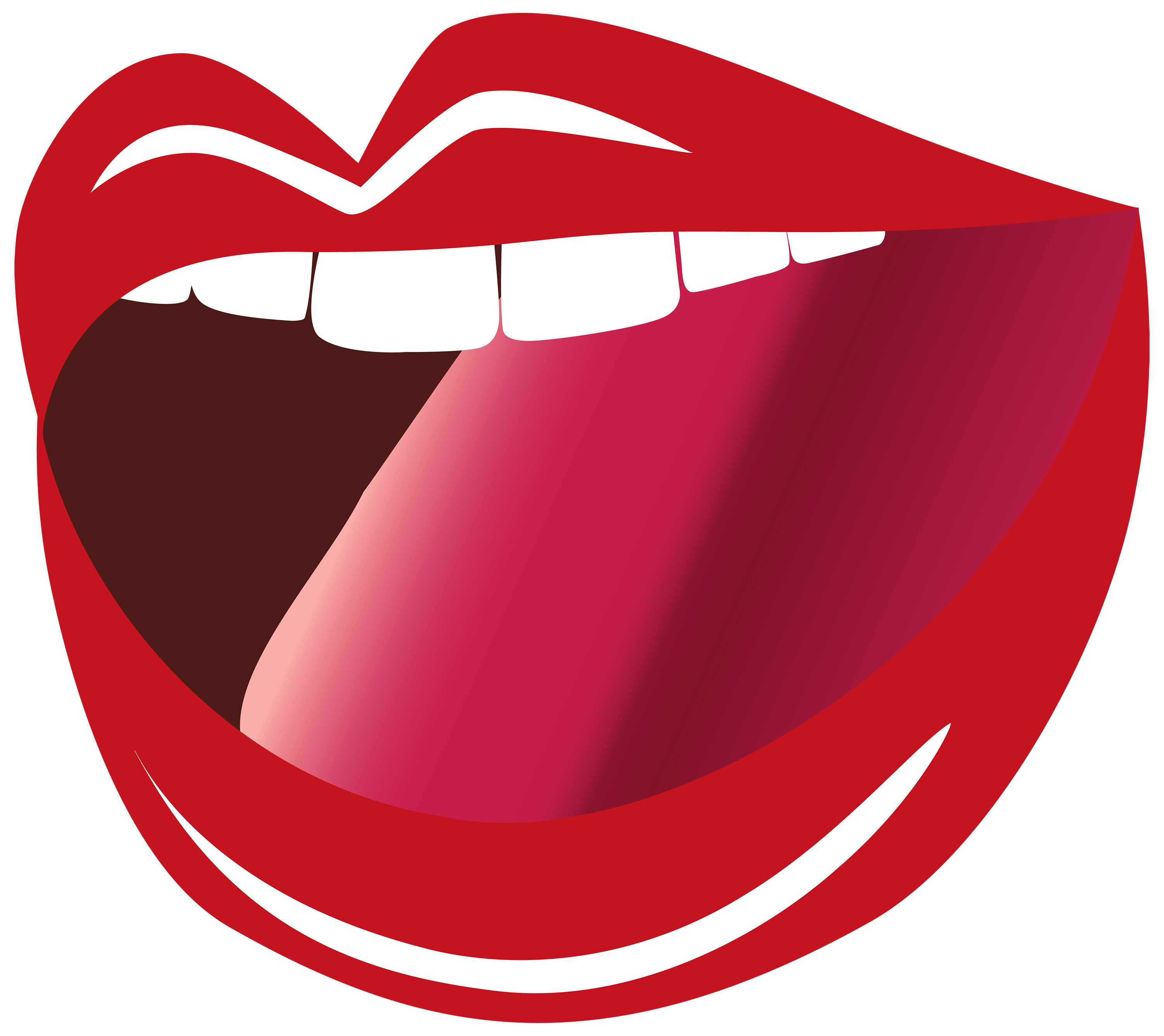 Open Mouth PNG Clipart Image.