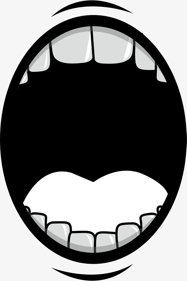 open mouth clipart black and white 10 free Cliparts ...
