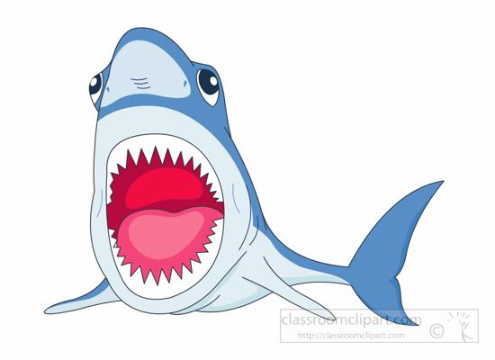 Open Mouth Shark Clipart.