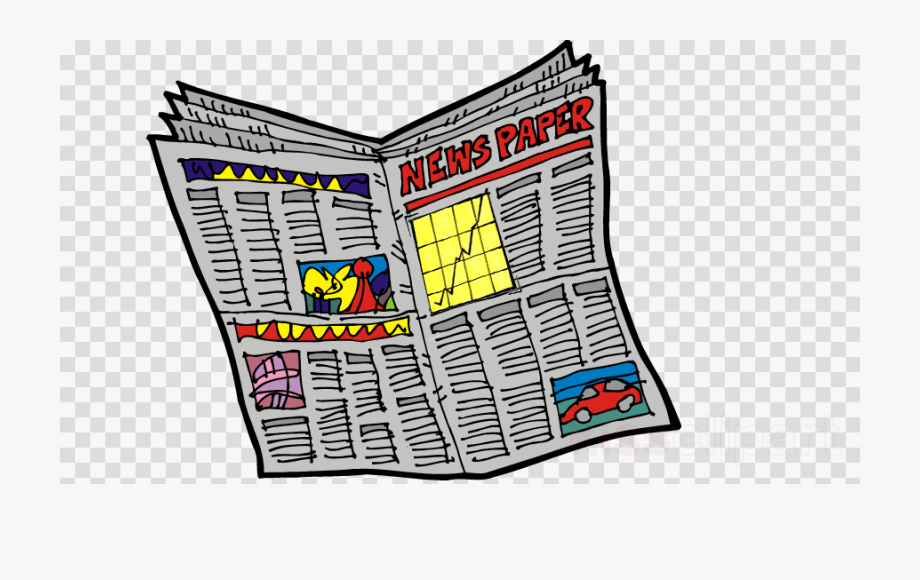Illustration, Newspaper, News, Transparent Png Image.