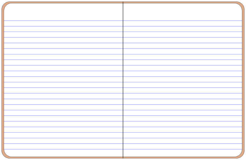 Free Clipart: Open notebook.