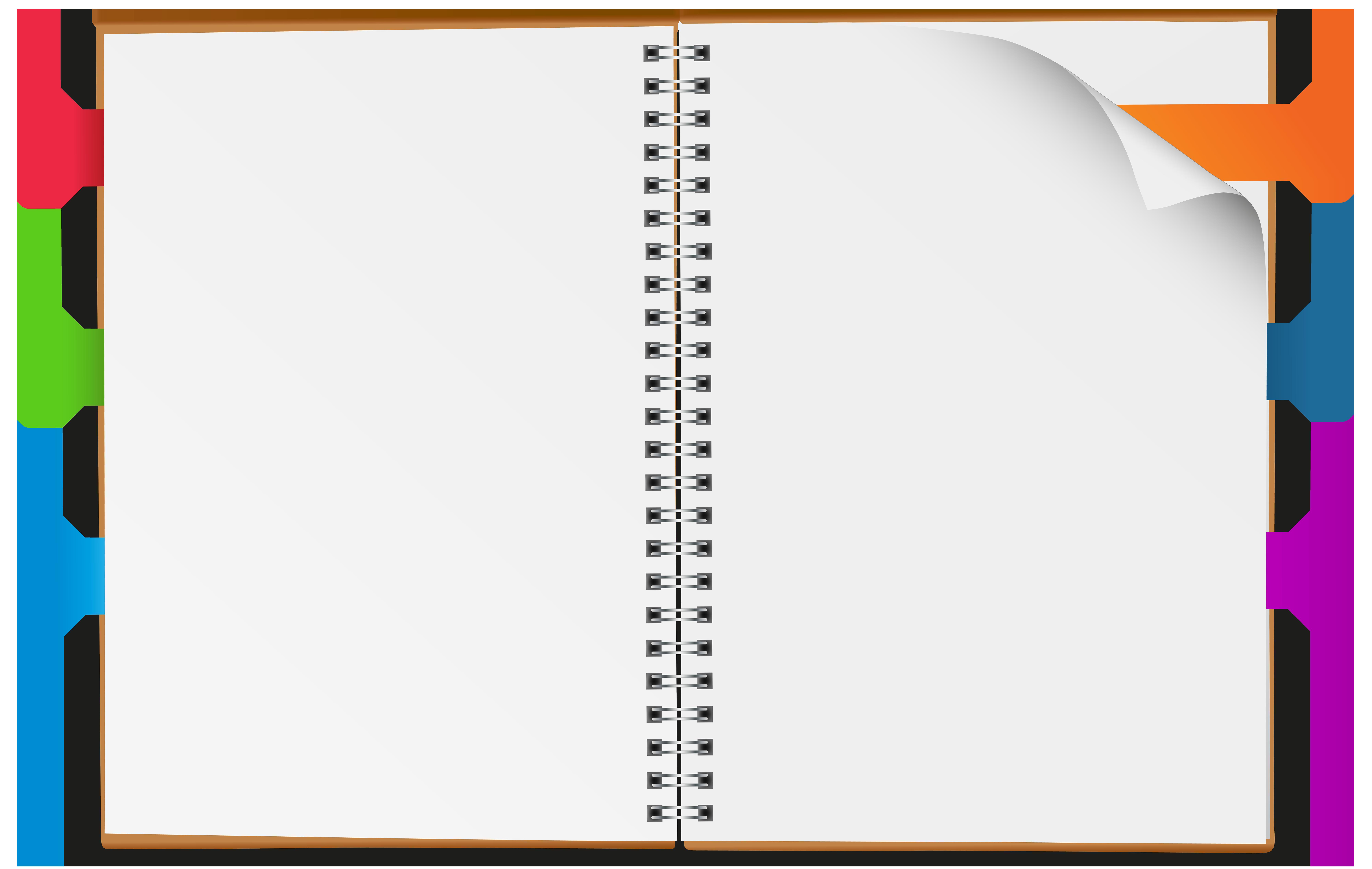 Open Notebook PNG Clip Art Image.