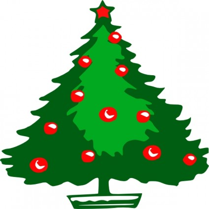 Christmas tree clip art free vector in open office drawing.