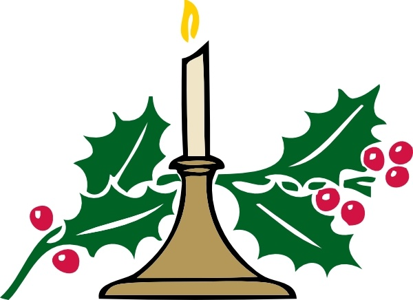 Christmas Candle clip art Free vector in Open office drawing.