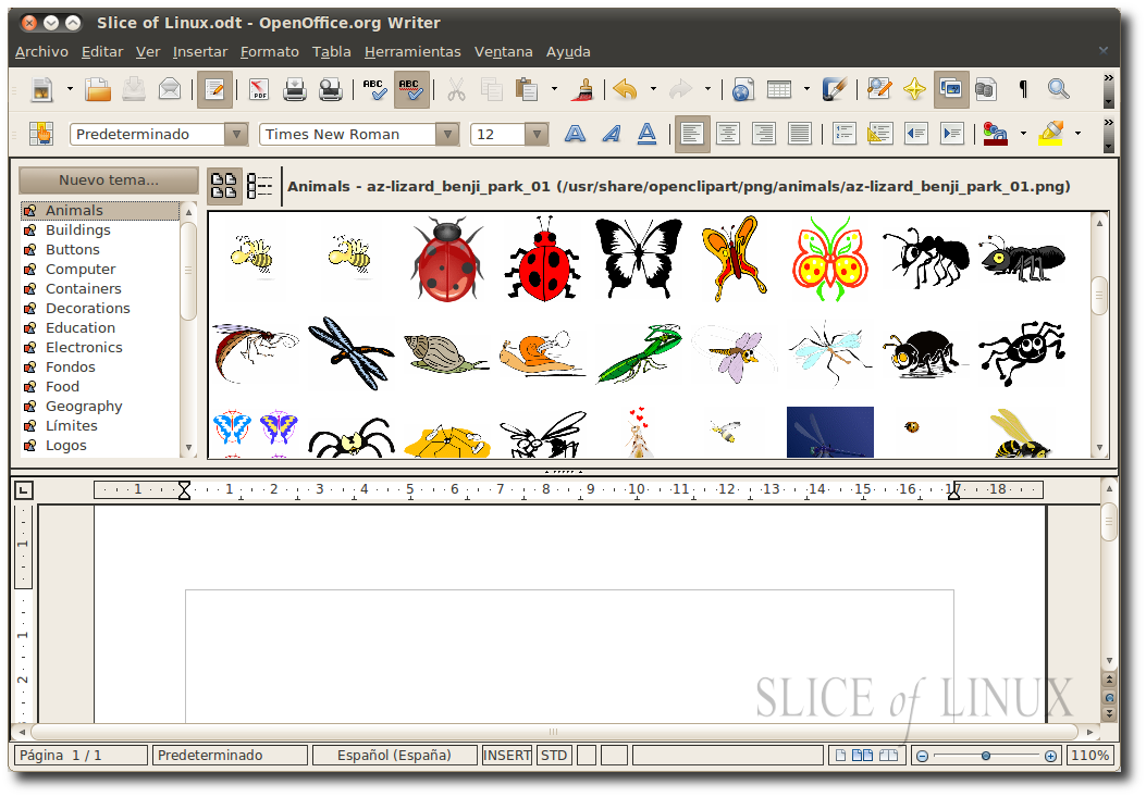Open office clip art.