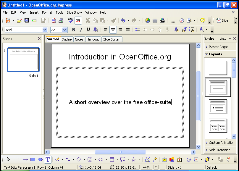 How to create presentations easily in OpenOffice.org 2.