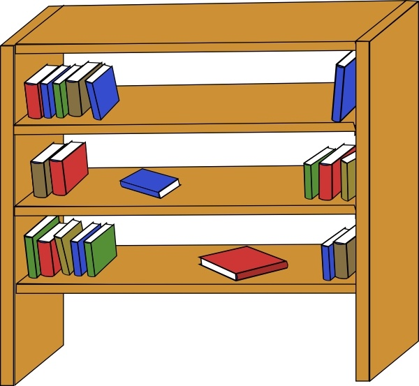 Furniture Library Shelves Books clip art Free vector in Open.