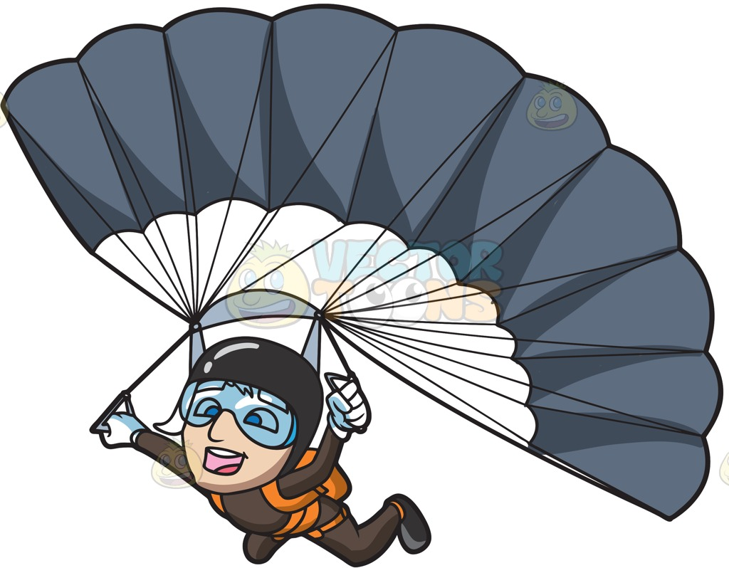 Cartoon clipart parachute.