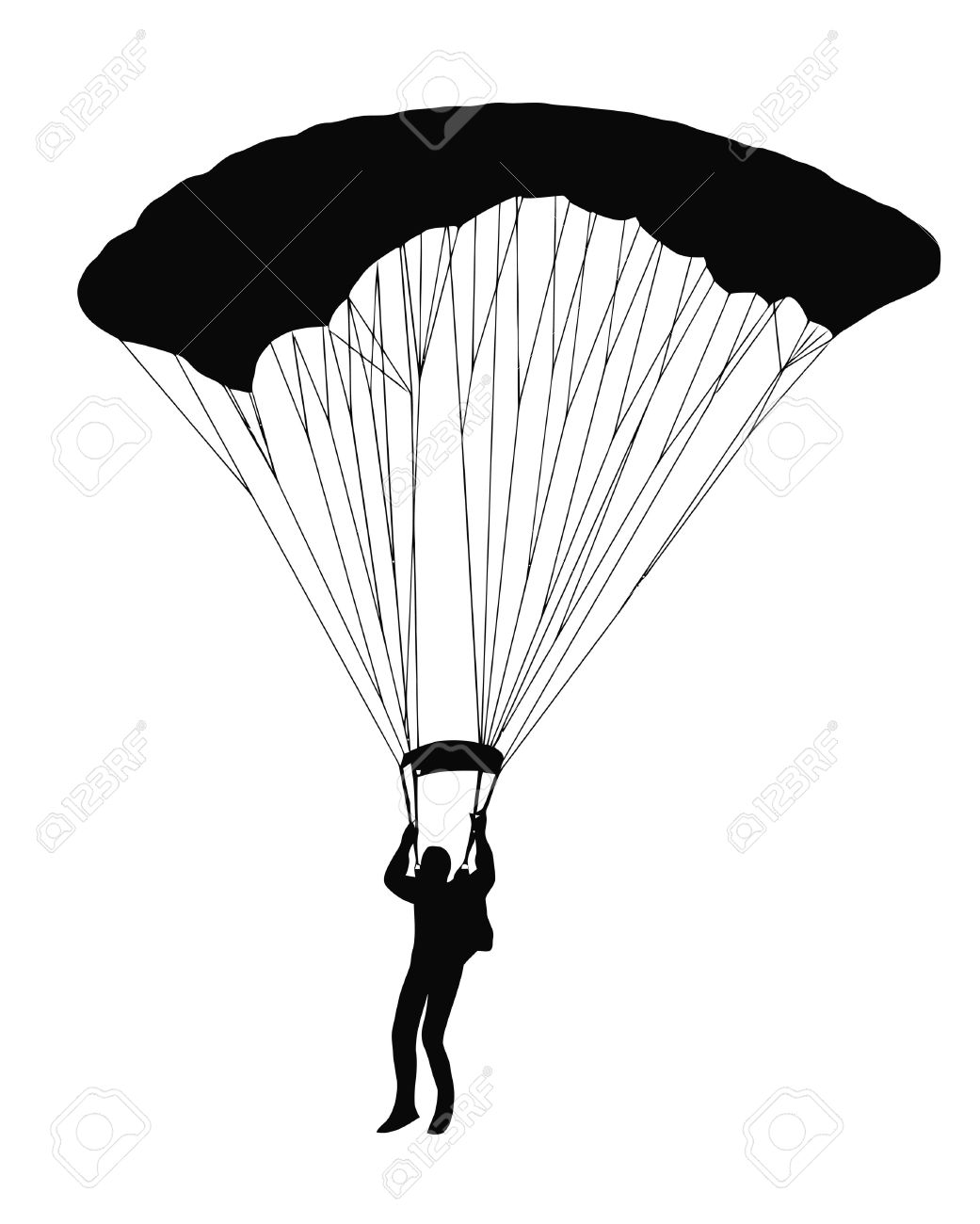 Skydiving parachute clipart