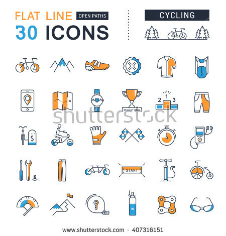 Bicycle Path Stock Vectors, Images & Vector Art.