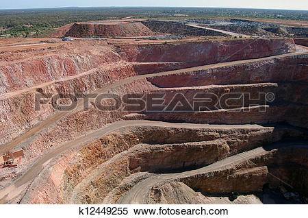 Stock Image of Gold mine open pit k12449255.