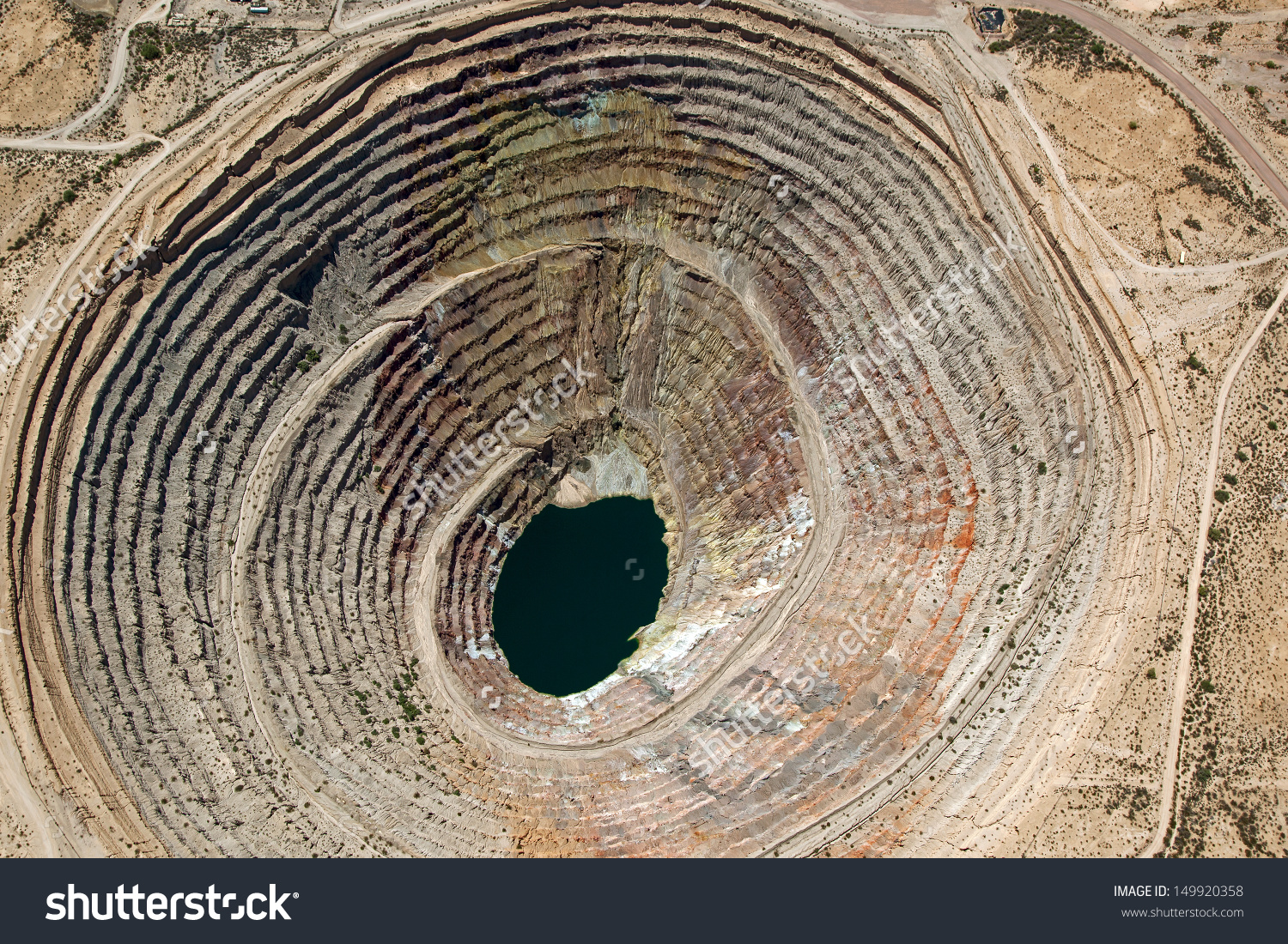 Looking Into Open Pit Mine Near Stock Photo 149920358.