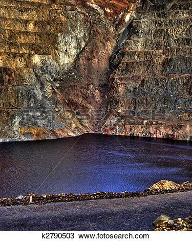 Stock Photo of open pit mining k2790503.