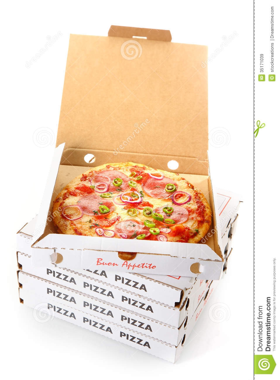 Open Pizza Box Clipart.