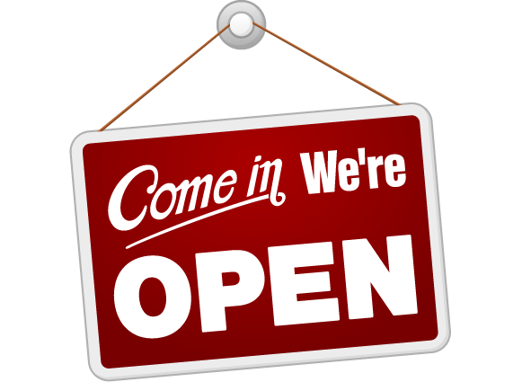 We Are Open Png Vector, Clipart, PSD.