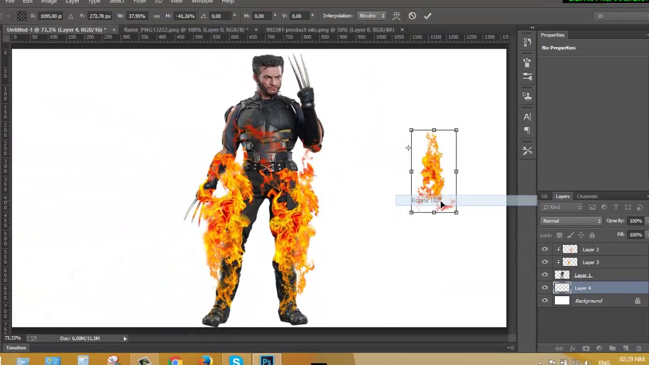 HOW TO USE PNG FILE ON PHOTOSHOP..
