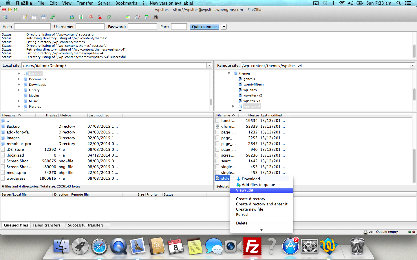 Set Application To Open File Types in Filezilla Using Mac.