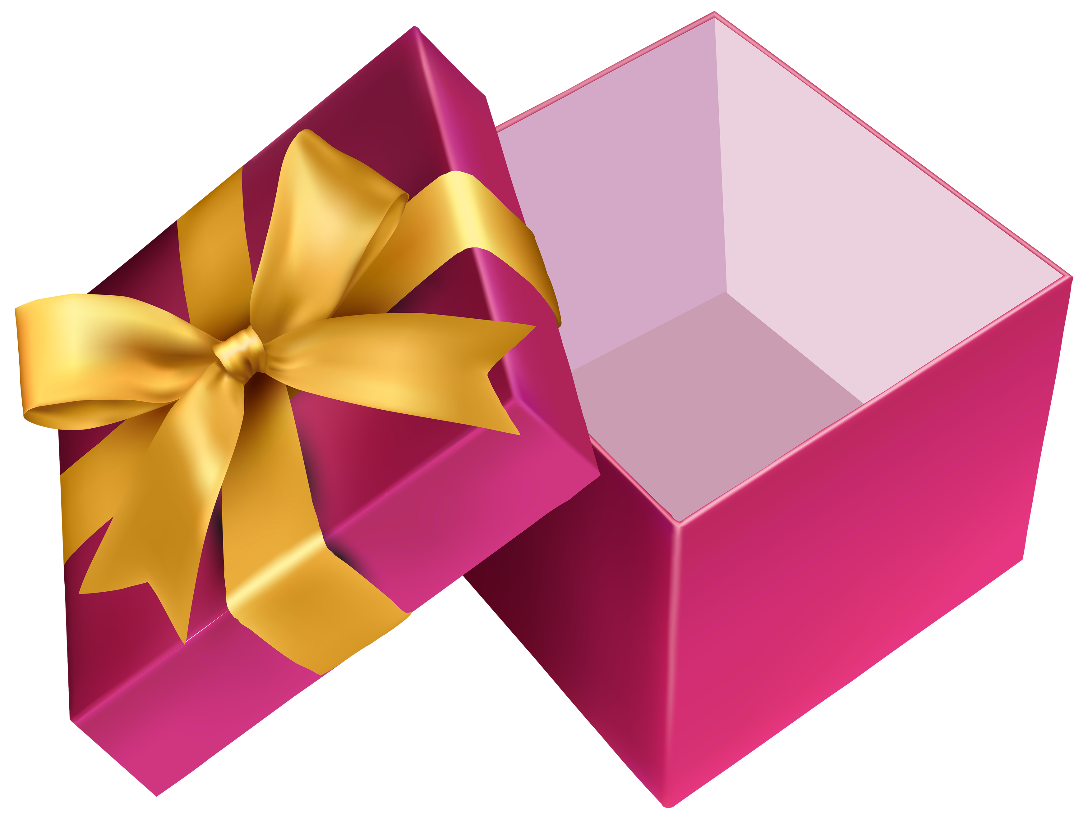 Pink Open Gift PNG Clipart.