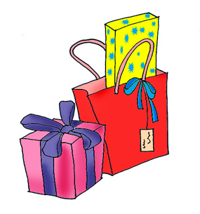 Open presents clipart kid 2.