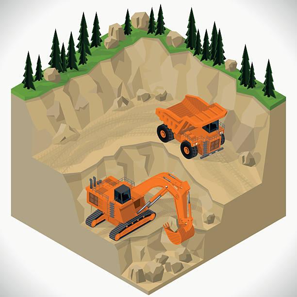 Mining Quarry Clip Art, Vector Images & Illustrations.