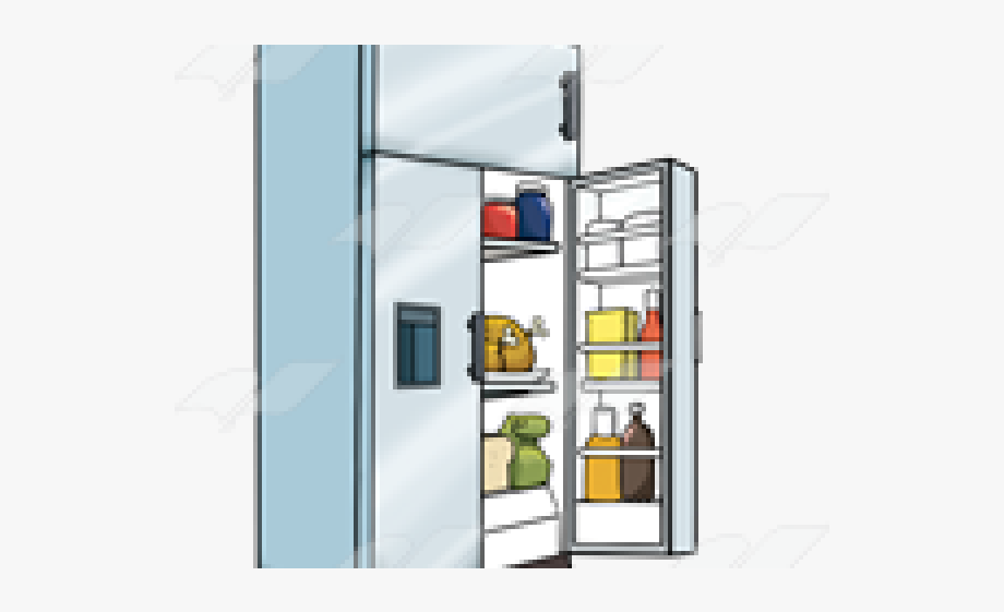 Refrigerator Clipart Open Door.