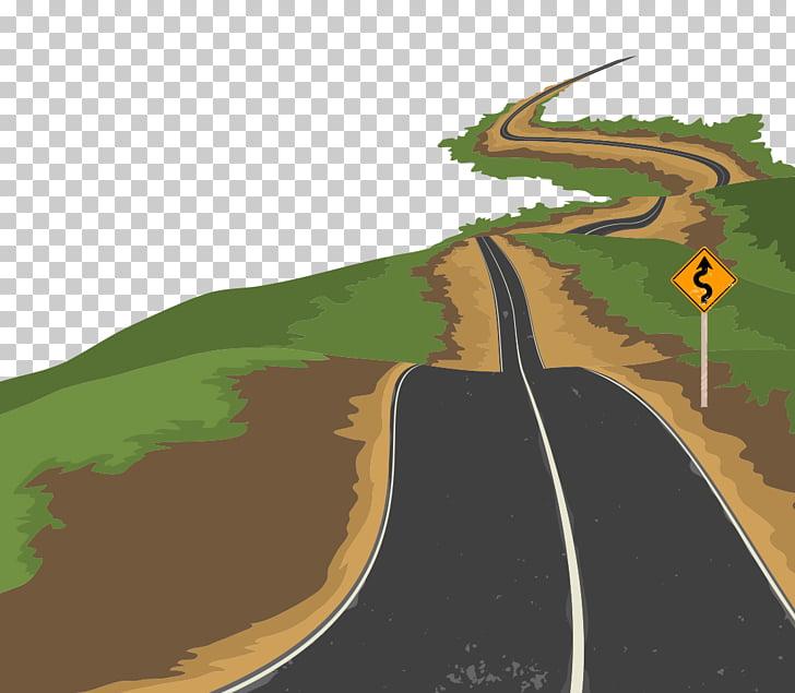 Roadway Clipart open road 9.